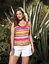 Crocheted striped tank